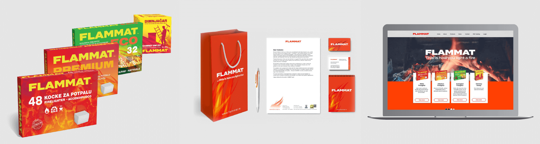 FLAMMAT – updated brand visual identity, new web site, and product catalog