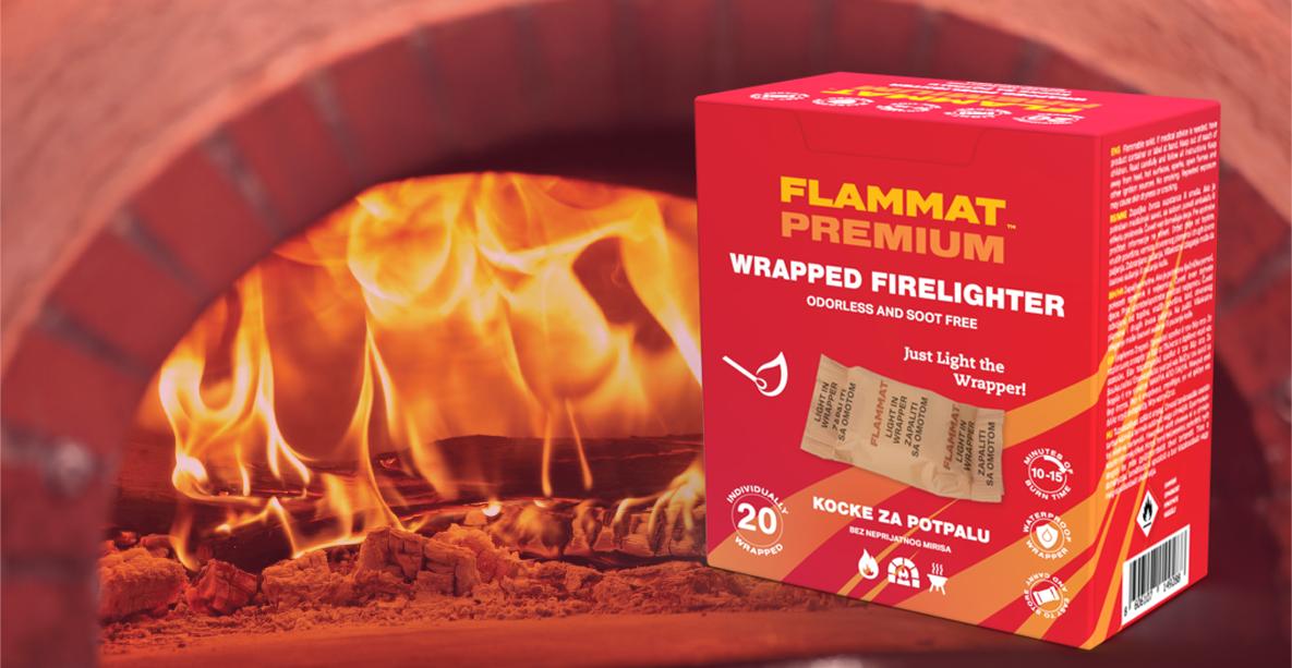 Flammat Premium Wrapped Firelighter